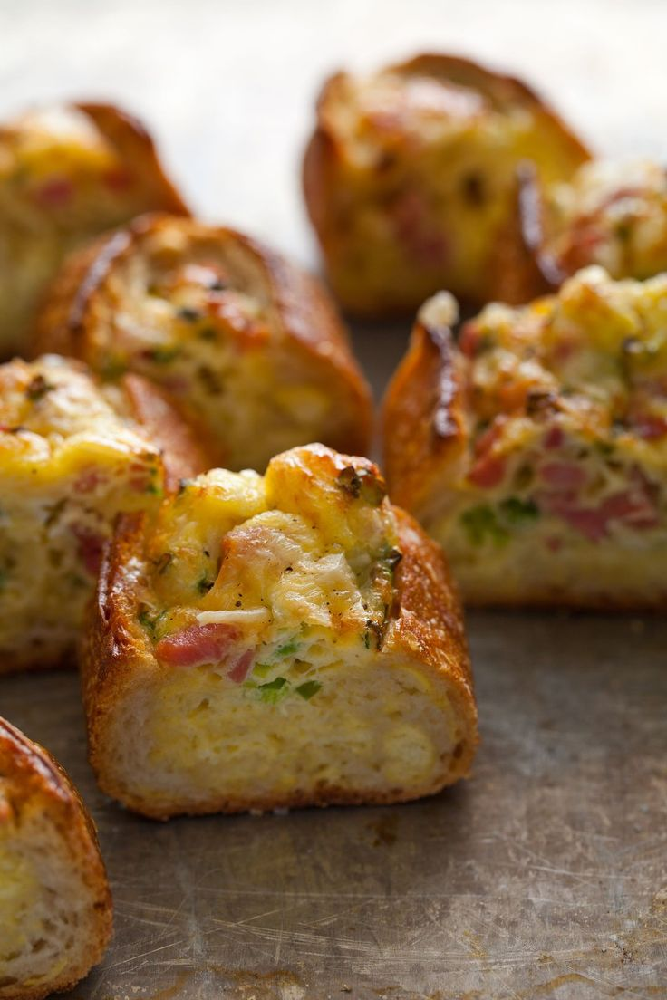 Boating calls for breakfast sandwiches in bulk --> Baked Egg Boats: sourdough + pancetta + gruyere + green onions (I'm thinking we should get creative with herbs)