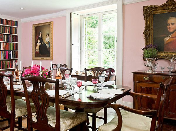 Pink Dining Room by GPA Interiors - Photography by Colin