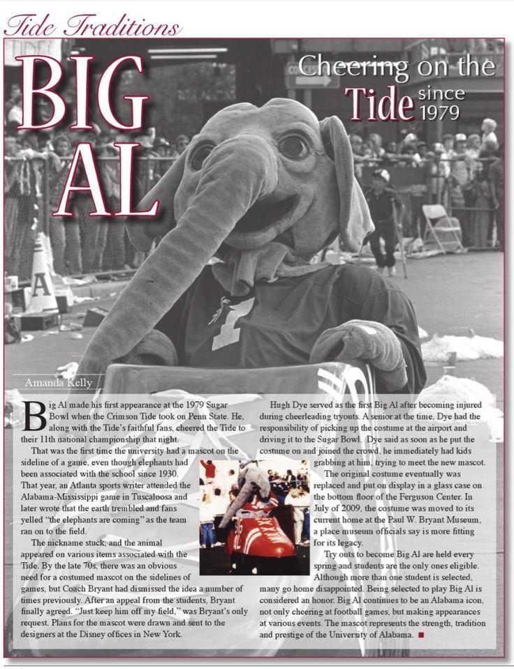Big AL - cheering the Tide since 1979 #Alabama #RollTide #Bama #BuiltByBama #RTR #CrimsonTide #RammerJammer #BigAL