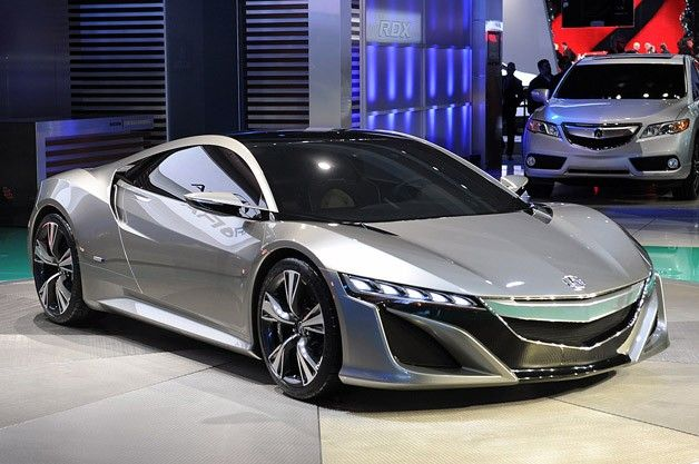 Acura NSX Concept 2012. The only thing I would change from the original NSX formula: longitudinal V8 instead of the transverse V6