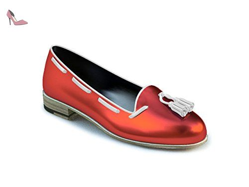 DIS - Giulietta – Mocassin À Gland – Femme Color - Rouge,Taille - 42 - Chaussures dis (*Partner-Link)