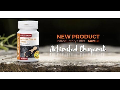 Activated Charcoal | Simply Supplements - For uncomfortable intestinal gas build up and bloating.