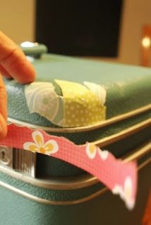 My Junk Obsession: How to Decoupage a Suitcase..this would make the coolest gift for someone i know!!!