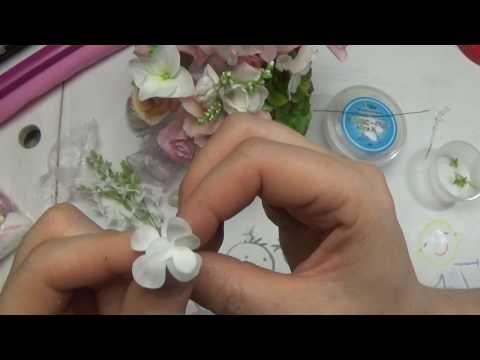 фантазийные веточки и мелочи для букета - YouTube