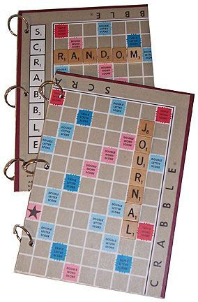 Scrabble Board Journals! Great idea for all those folks buying #Scrabble letters from me ... I even have a board available this week ... may need to make one of these myself :)