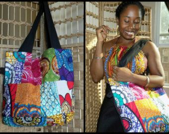 Ankara Collage africaine Print Patchwork reconstruit Flats