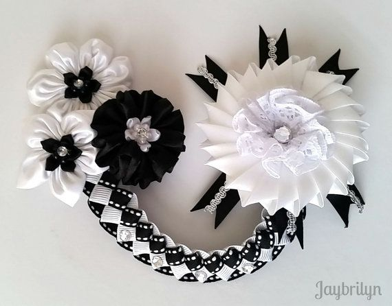 Bun Wrap for Girl Girls' Bun Wrap Black and White by Jaybrilyn