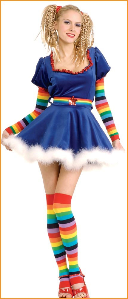 Halloween Costumes Sexy Rainbow Girl Adult/Teen Costume HalloweenCostumes4u.com $44.65