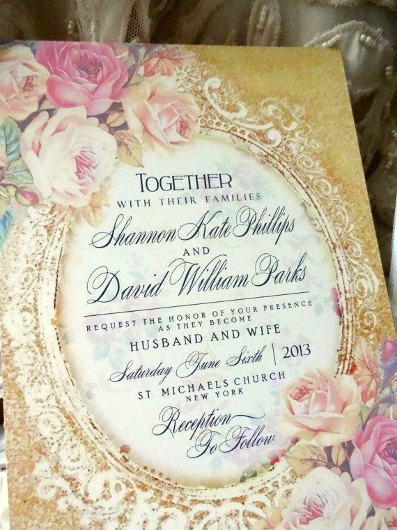 WEDDING INVITATION Suite Sample