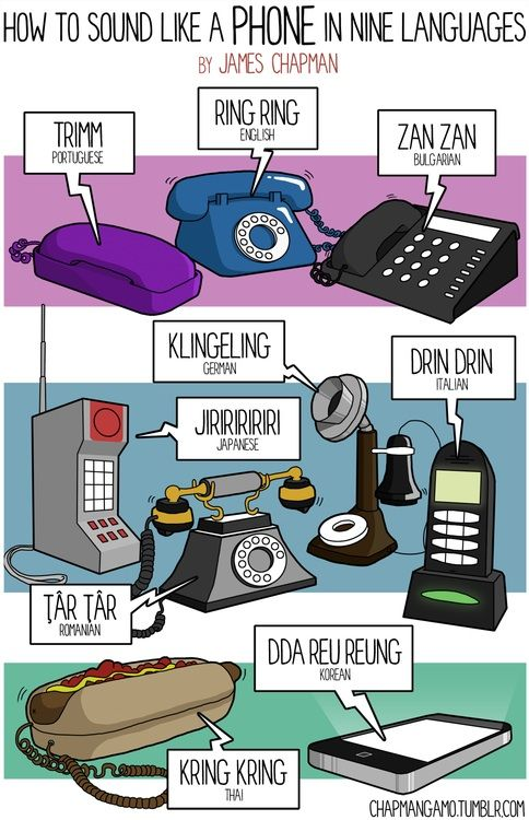 How to sound like a phone in nine languages, by James Chapman  Hahaha why is this so funny to me???