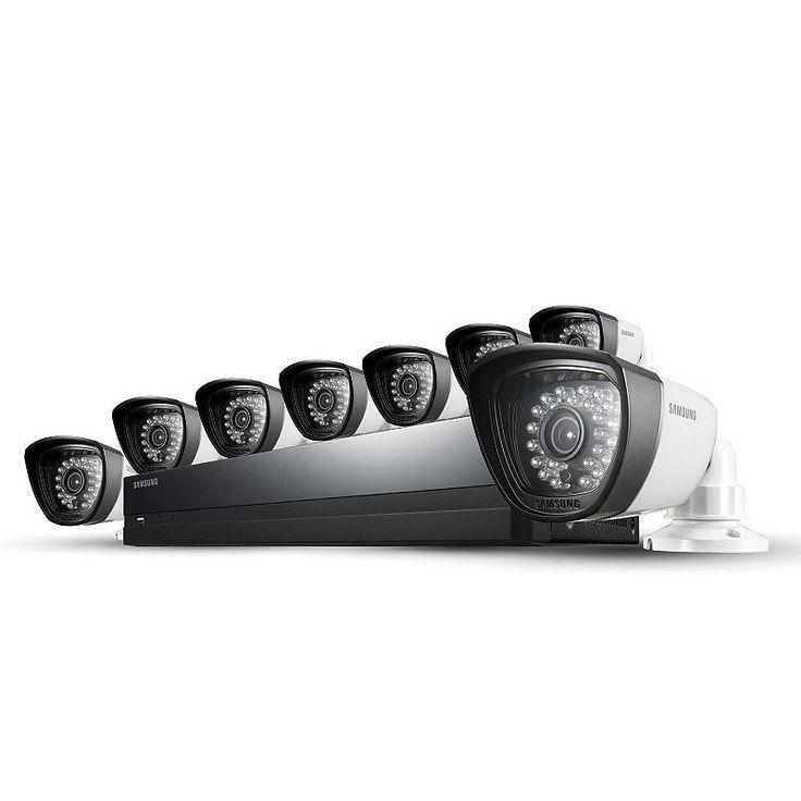 Samsung 16-Channel DVR 8-Camera Home Security System, Black