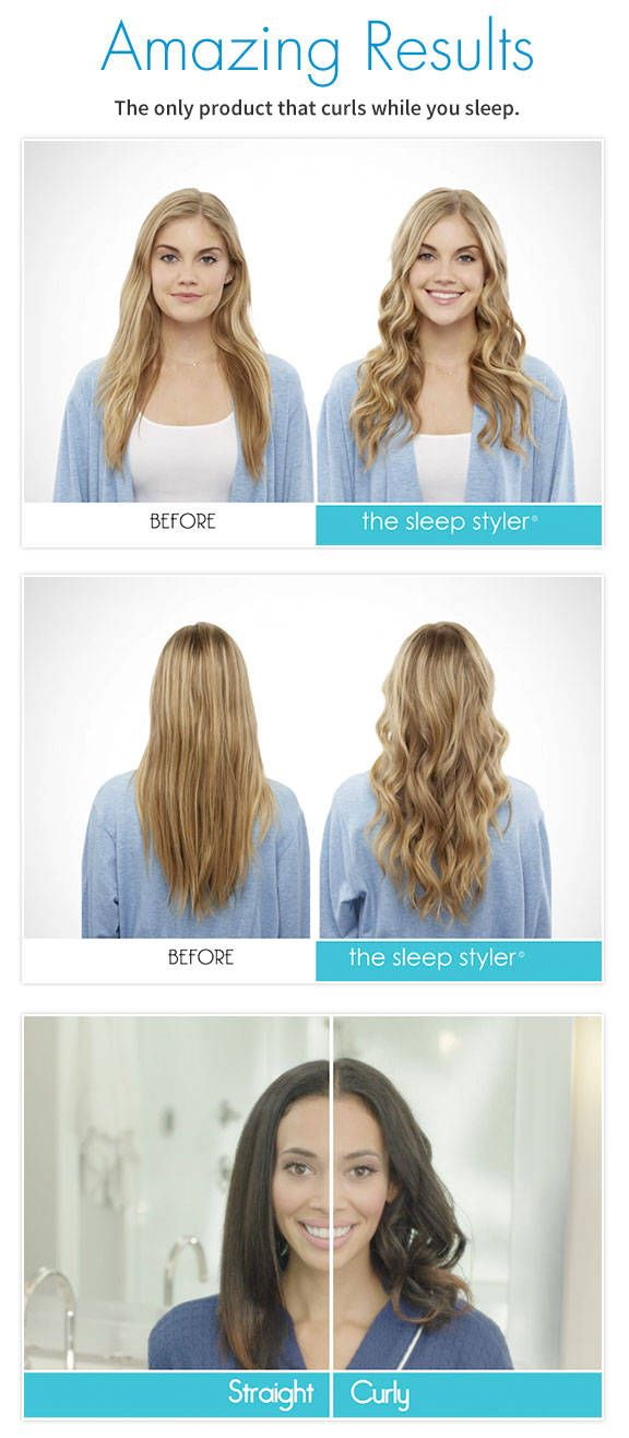 The Sleep Styler® is a brand new way to dry and style your hair while you sleep! Curl your hair without any heat!
