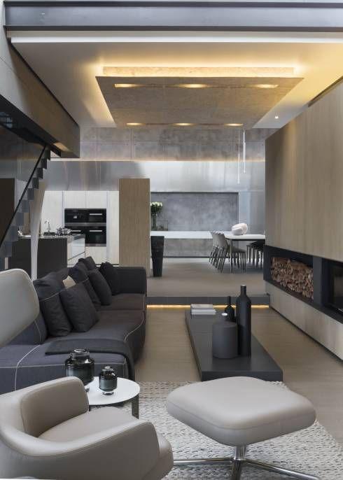 Das ultra moderne Wohnzimmer in diesem Haus von Meulen Architects macht neugierig auf mehr #modernearchitektur #moderneeinrichtung #moderninterior #modernarchitecture