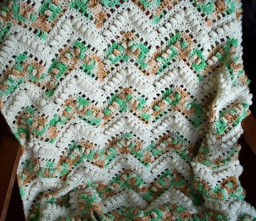 Free Crochet Popcorn Baby Blanket Pattern : 520 best images about CROCHET - RIPPLED AFGHAN on ...
