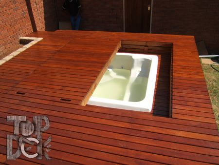 Jacuzzi Deck - A hidden jacuzzi sounds perfect for keeping the kids out of it as well as being able to use the space when it just isn't needed