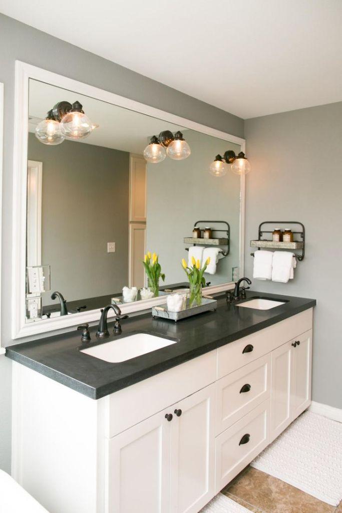 Interior: Traditional Black Granite Countertops With Brown ... on Bathroom Ideas With Black Granite Countertops  id=28330