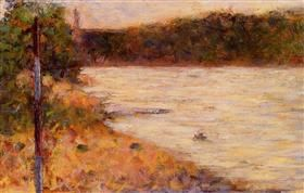 A River Bank (The Seine at Asnieres) - Georges Seurat