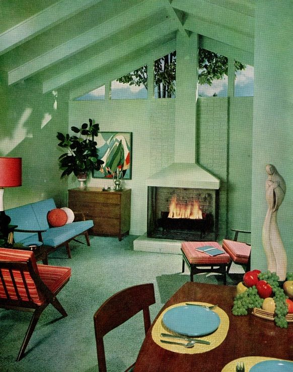 386 best 50s interiors images on pinterest chairs home - 1950 s living room decorating ideas ...