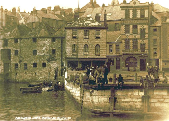 Mayflower Steps Plymouth Barbican Devon. Birthplace of the USA... Where my family lives