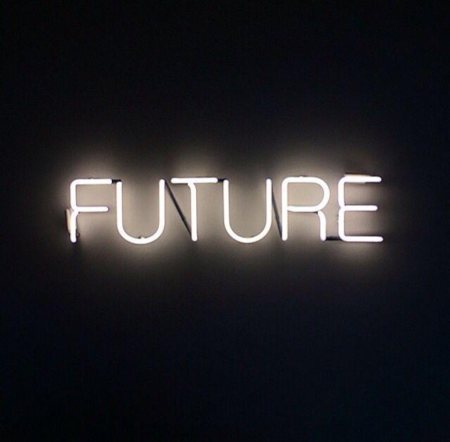 Фото с надписью будущее