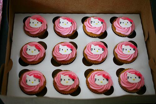 Hello Kitty cupcakes | Flickr - Photo Sharing!