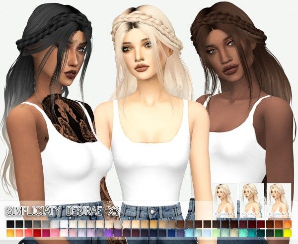Miss Paraply: Simpliciaty`s Desirae hairstyle retextured • Sims 4 Downloads