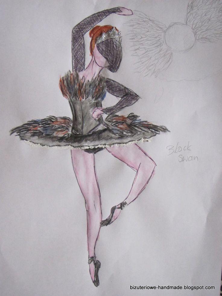Black Swan ballet costume design  bizuteriowe-handmade.blogspot.com