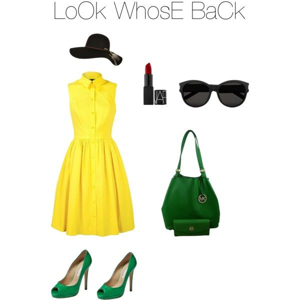 Look whose back by dessy-latief on Polyvore featuring polyvore, fashion, style, Karen Millen, Oscar de la Renta, Michael Kors, Yves Saint Laurent and Billabong