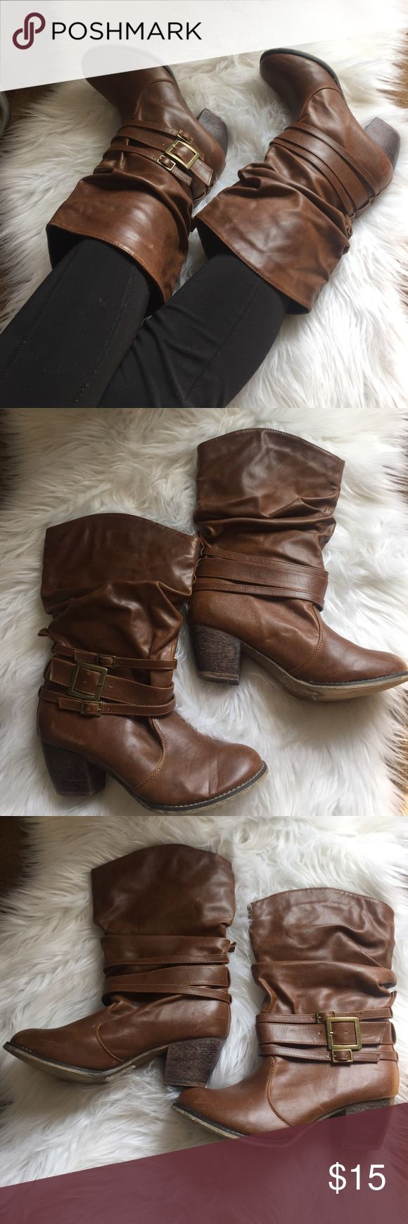 Brown Boots  In perfect condition purchase them from TJ Max retail price 29.99 Shoes Heeled Boots