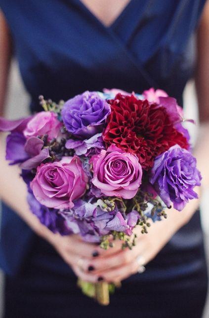 dress, dahlia, lavender, bouquet, flowers, purple, jewel, wedding