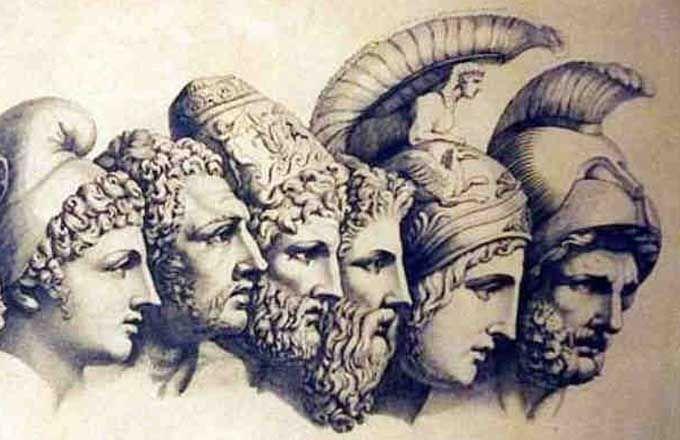 #Yunan mitolojisinde #tanrı ve #tanrıça isimleri nelerdir?
