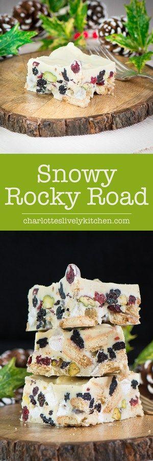 snowy rocky road pin