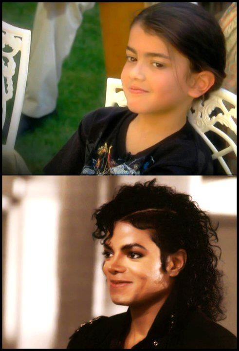 MJ and youngest son, Blanket.