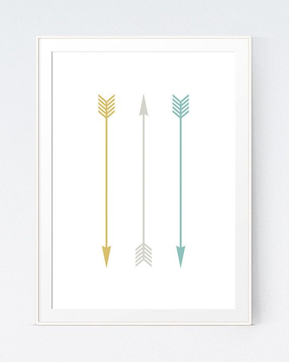 Hey, I found this really awesome Etsy listing at https://www.etsy.com/ca/listing/237629753/3-arrows-print-yellow-turquoise-and-grey
