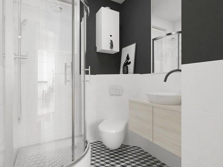 Bathroom retro  shower FOORMA Pracownia Architektury Wnętrz