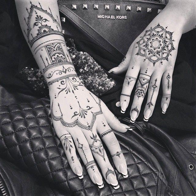 Long henna glove & mandala veronicalilu
