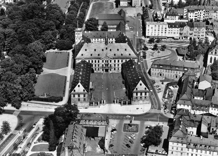 Barockstadt Fulda: Aerial view of the Stadtschloss