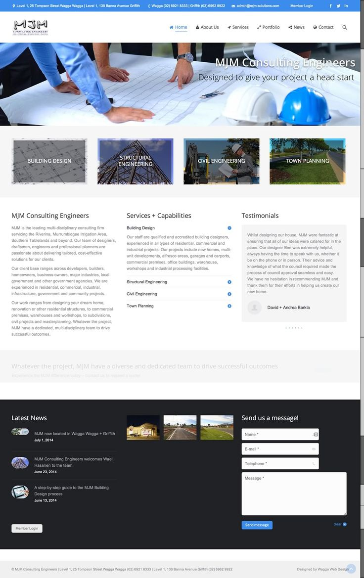 MJM Consulting Engineers   MJM Consulting Engineers has a team of engineers  designers and planners based in Wagga Wagga and Griffith