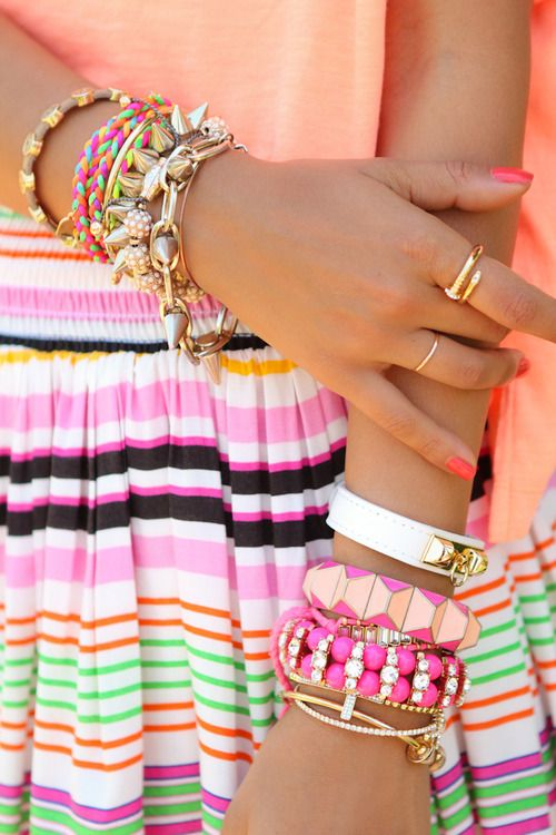 stacked & striped: Arm Candy, Fashion, Style, Color, Bracelets, Armcandy, Jewelry, Accessories, Arm Candies