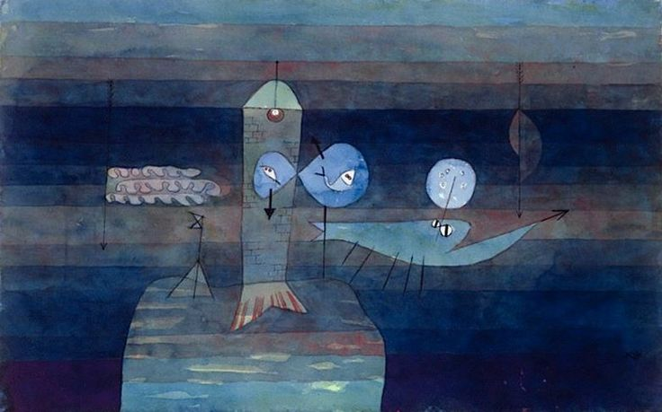 "Cirosata Bolarc* on Twitter: ""Paul Klee, Good place for Fish, 1922…"
