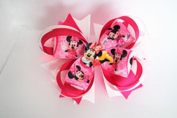American Bow, Mickey Mouse, Mini Mouse,  Hair Bow, Hair Ornaments, Hair Bow Clip