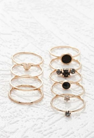 Faux Gem Ring Set | Forever 21 #accessorize