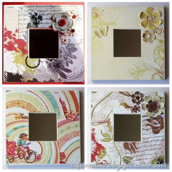cafecreativo -Specchi decorati con carta