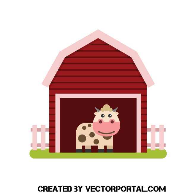 Cartoon Barn Clip Art Along With Cartoon Farm Animals - Barn With Silo  Clipart - Free Transparent PNG Download - PNGkey