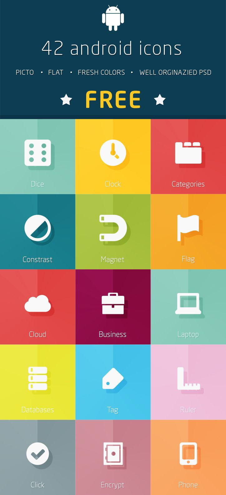 Icon set for Android