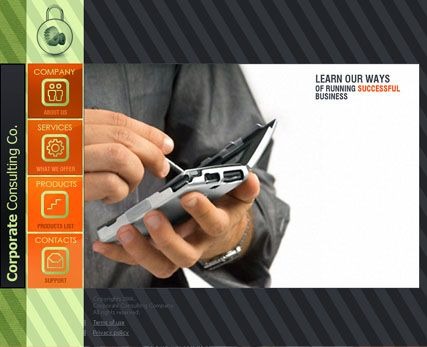 Corp. consulting website template