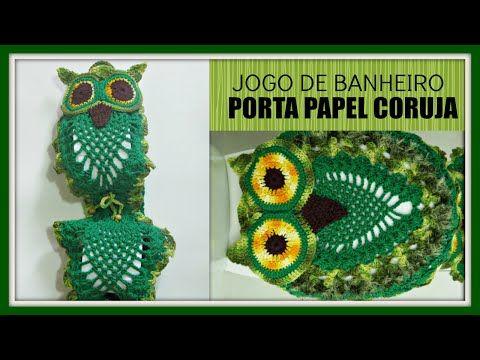 Jogo De Banheiro - Coruja Dorminhoca- Tapete Da Pia- Passo A Passo- Parte 1 - YouTube