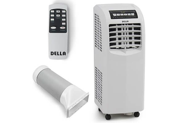 Della 8,000 BTU Portable Air Conditioner Dehumidifier A/C Remote Control