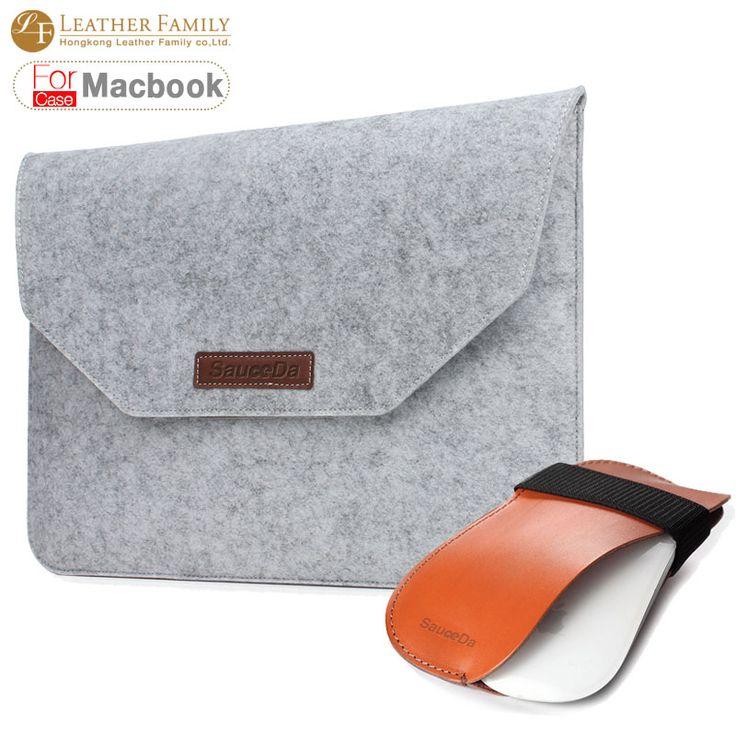 SauceDa Для macbook чехол Универсальный ноутбук Шерсть Войлок рукава сумка для macbook air 11.6 retina 12 13.3 15.4 дюймов с мышь, сумка купить на AliExpress