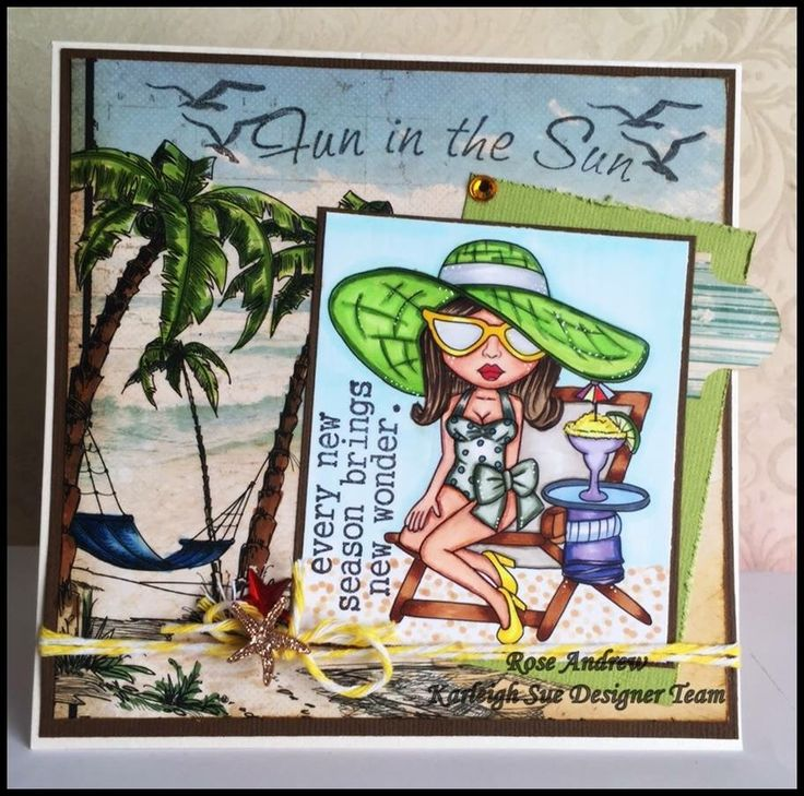 My very first DT card for Karleigh Sue Images   https://www.etsy.com/listing/226741135/hot-sunny-day-digital-digi-instant